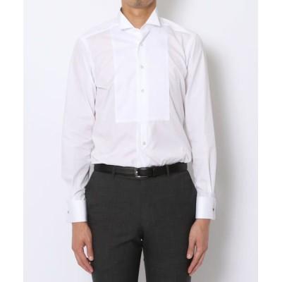 TOMORROWLAND/トゥモローランド 140/2コットンブロード ウィングカラー ドレスシャツ ホワイト 41