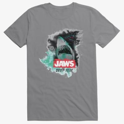 ジョーズ Tシャツ Jaws ジョウズ 海外映画 Movie  Deep Fear T-Shirt メンズ