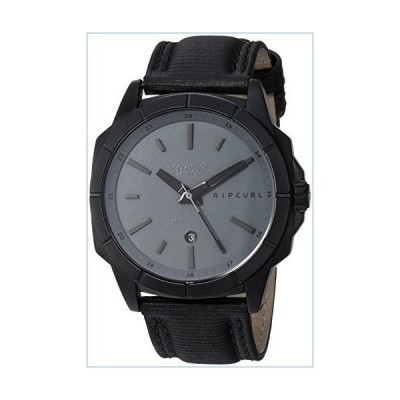 Rip Curl Men's Stainless Steel Quartz Sport Watch with Leather Strap, Black, 23 (Model: A3085DSH1SZ)並行輸入品