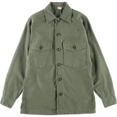 60s 米軍実品 ユーティリティシャツ USA製 メンズS /eaa023920