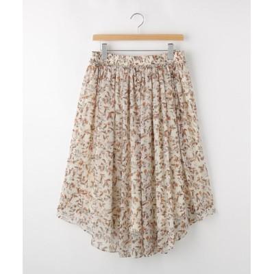 OFF PRICE STORE(Women)(オフプライスストア(ウィメン)) NATURAL BEAUTYフラワープリントギャザースカート