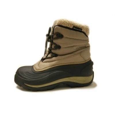 コロンビア columbia ブーツ USA 8.5 メンズ - ベージュ×黒 ナイロン×PVC(塩化ビニール)【中古】20210126