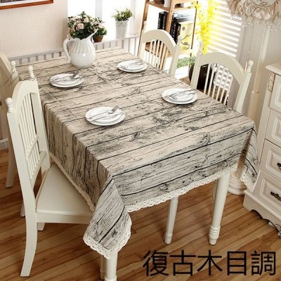 テーブルクロス 復古木目調 テーブルカバー 綿混 食卓カバー 耐熱 サイズオーダー 長方形 汚れ防止 おしゃえ 模様替え