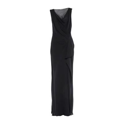 アルベルタ フェレッティ ALBERTA FERRETTI ロングワンピース&ドレス ブラック 44 レーヨン 100% ロングワンピース&ドレス