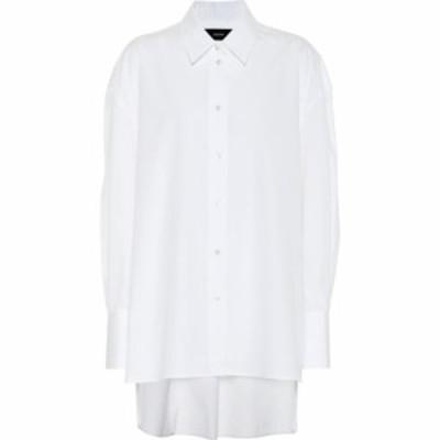 ジョゼフ Joseph レディース ブラウス・シャツ トップス baji oversized cotton poplin shirt Optic White