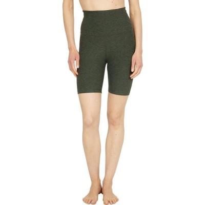 ビヨンドヨガ Beyond Yoga レディース 自転車 ショートパンツ ボトムス・パンツ Spacedye High Waisted Biker Shorts Eden Green Heather