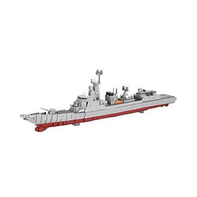 QiQing STEM Battleship Building Block Model Military Ship Toys Guided Missi