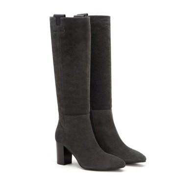 アクアタリア レディース ブーツ&レインブーツ シューズ Florianne Tall Weatherproof Leather Boot GREY/BLACK
