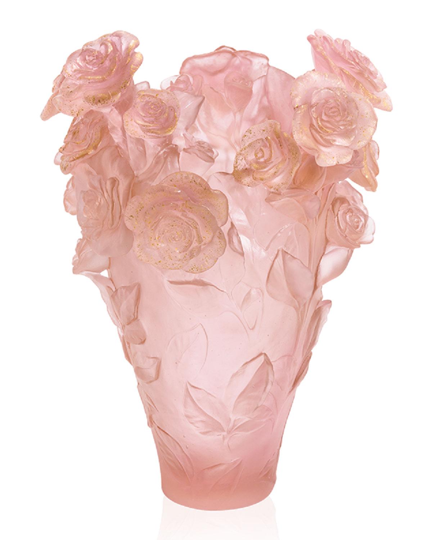 Rose Passion Pink Gilded Magnum Vase