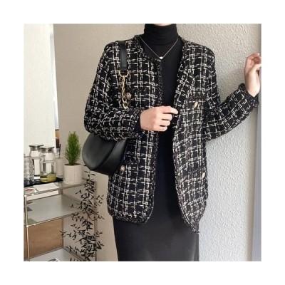 MINIBBONG レディース ジャケット Cast Tweed Jacket-Ivory Same Day Shipping