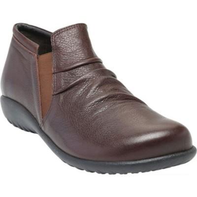 ナオト レディース ブーツ&レインブーツ シューズ Terehu Slip On Soft Brown Nubuck/Leather