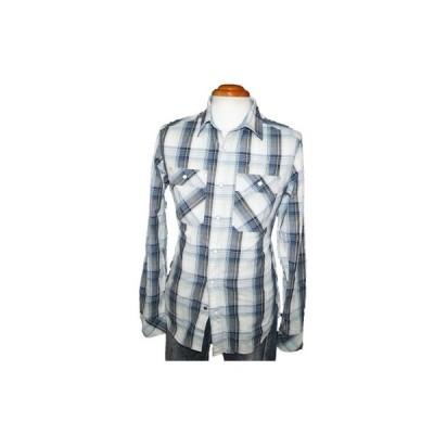 ◆新品 ジースターロウ ウエスタンシャツ チェックnf