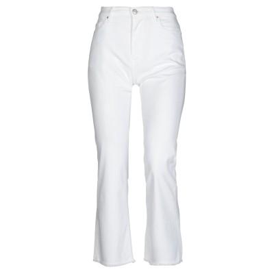 0/ZERO CONSTRUCTION パンツ ホワイト 27 コットン 63% / テンセル 25% / レーヨン 10% / ポリウレタン 2%