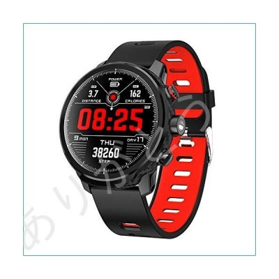 新品 Smart Watch Activity Tracker Fitness Watch for Men Women Waterproof Heart Rate Monitor Watches Sleep Monitoring (Red)