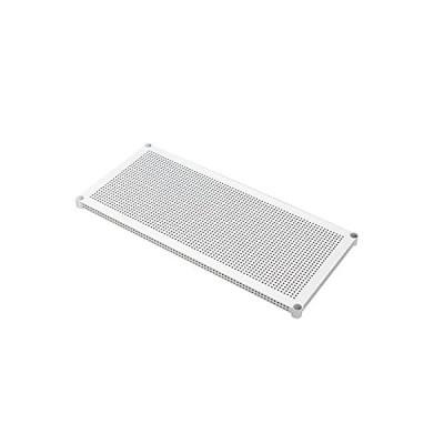 アイリスオーヤマ メタルラック パンチング棚板 ホワイト ポール径25mm 幅100×奥行46cm 耐荷重50kg MR-100TP