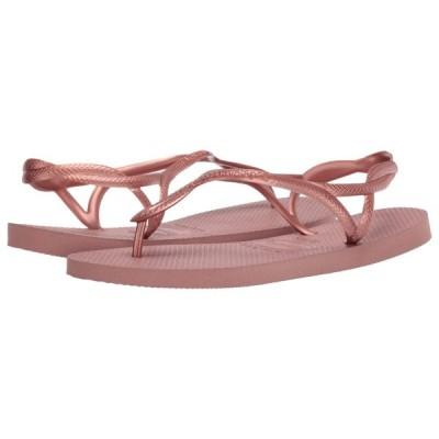 ハワイアナス Havaianas レディース ビーチサンダル シューズ・靴 Luna Flip Flops Crocus Rose