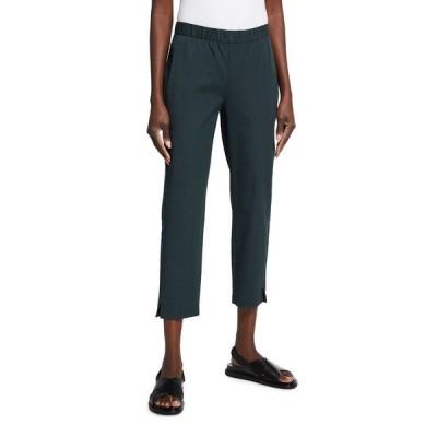 エイリーンフィッシャー レディース カジュアルパンツ ボトムス Organic Cotton Twill Slim Ankle Pants