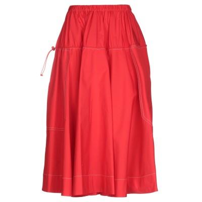 マルニ MARNI 7分丈スカート レッド 42 コットン 100% 7分丈スカート
