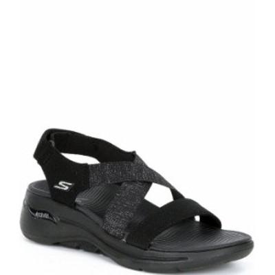 スケッチャーズ レディース サンダル シューズ Go Walk Arch Fit Astonish Sandals Black