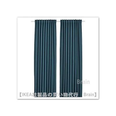 IKEA/イケア ANNAKAJSA/アンナカイサ 遮光カーテン(わずかに透光)1組145x250 cm ブルー