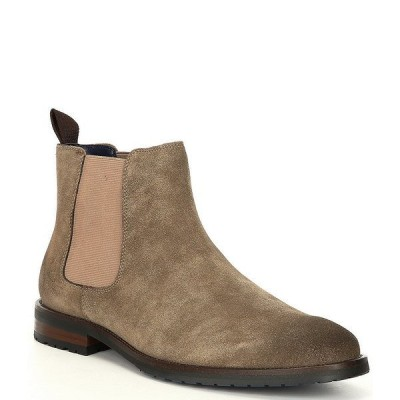 スティーブ マデン メンズ ブーツ&レインブーツ シューズ Men's Tipler Suede Block Heel Chelsea Boots Taupe