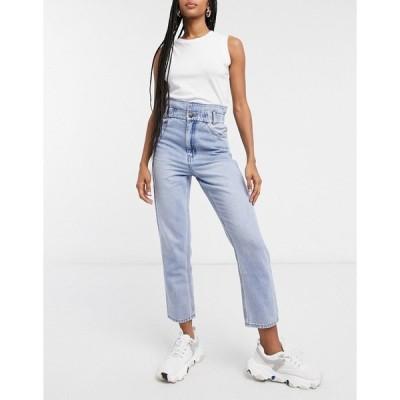 アンドアザーストーリーズ レディース デニムパンツ ボトムス & Other Stories organic cotton waist detail jeans in blue Blue denim