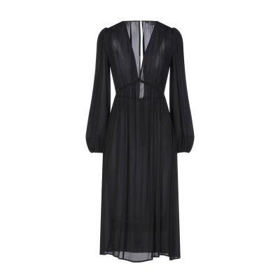 ELISABETTA FRANCHI 7分丈ワンピース・ドレス ブラック 40 レーヨン 100% 7分丈ワンピース・ドレス