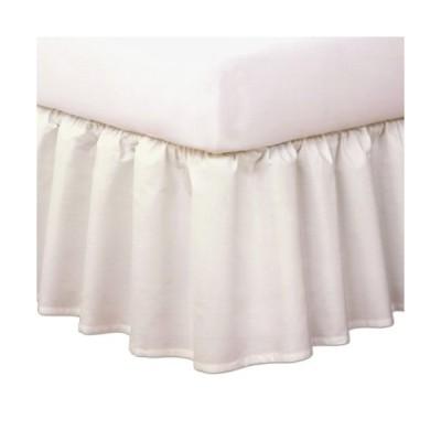 King Ivory - Magic Skirt Ruffled Bedskirt Never Lift Your Mattress Classic