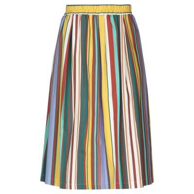 EMMA 7分丈スカート オークル L コットン 100% 7分丈スカート
