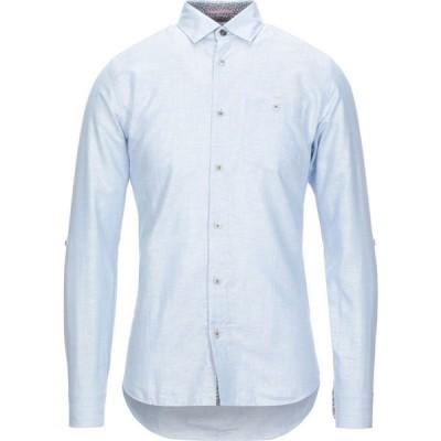 テッドベーカー TED BAKER メンズ シャツ トップス linen shirt Sky blue