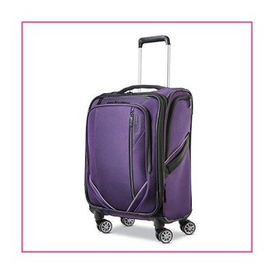 American Tourister 131400-1717 Zoom Turbo Softside Expandable Spinner Wheel Luggage, Purple, Carry-On 20-Inch並行輸入品