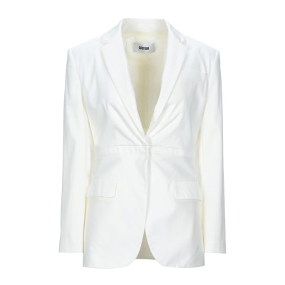 マウロ グリフォーニ MAURO GRIFONI テーラードジャケット ホワイト 42 コットン 97% / ポリウレタン 3% テーラードジャケット