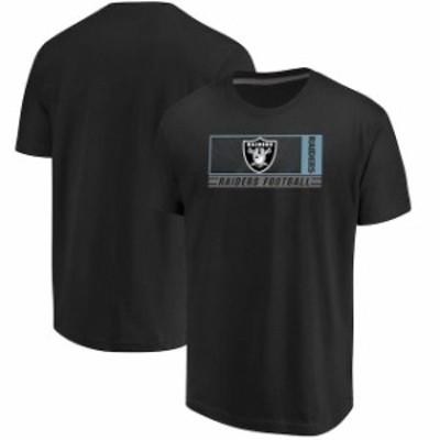 Majestic マジェスティック スポーツ用品  Majestic Oakland Raiders Black Hook and Ladder T-Shirt