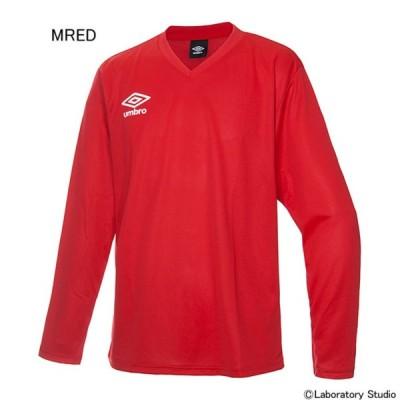 アンブロ サッカー プラクティスシャツ セカンダリー L/S シャツ Mレッド×ホワイト MRED UM-UBS7637L-MRED