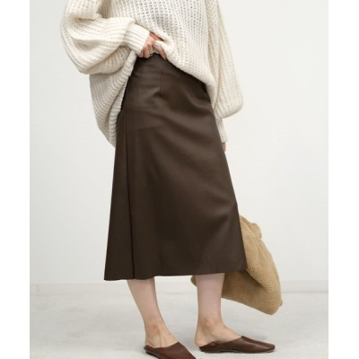 ANDJ / エコレザーバックスリットスカート WOMEN スカート > スカート