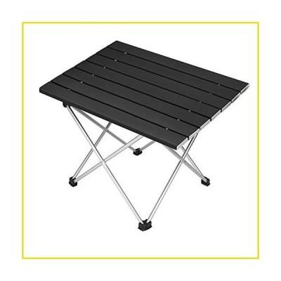 送料無料 ポータブルキャンプ Portable Camping Table Aluminum Table Top Ultralight Camp Desk Folding Beach Table with Carry Bag f
