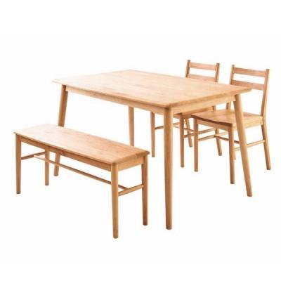 ダイニングテーブルセット ダイニング4点セット Terrace テーブル128cm×1 チェア×2 ワイドスツール×1 4人用 アルダー無垢材 オイルフィニッシュ