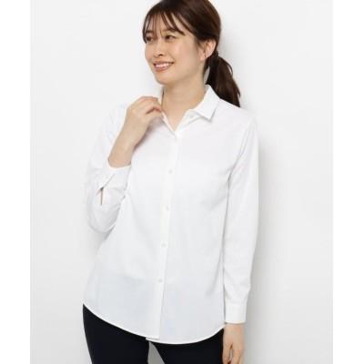 【スマートピンク】 ベーシックシャツ レディース ホワイト 40(M/ミセス) smart pink