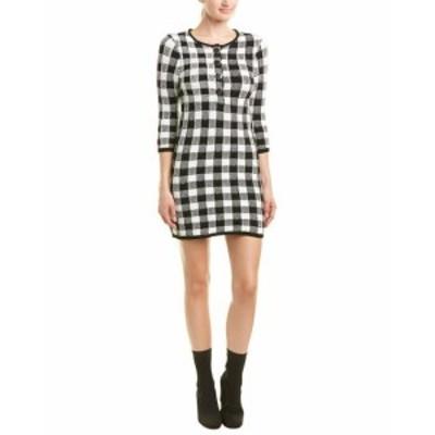 ファッション ドレス Maje Checkered Sweaterdress