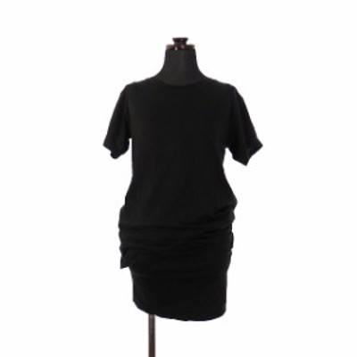【中古】セオリー theory 38 レイヤード Tシャツワンピース チュニック 半袖 S ブラック 01-4105064 TOASTA EXTREMIS