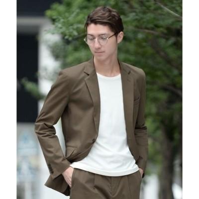 ジャケット テーラードジャケット 微光沢の優美な面持ちがドレッシーに決めるテーラードジャケット セットアップ