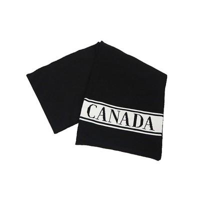 <CANADA GOOSE (Baby&Kids)/カナダグース> 6955K KIDS MERINO LOGO SCARF BLACK【三越伊勢丹/公式】