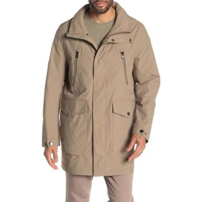 マイケルコース メンズ ジャケット&ブルゾン アウター Waxed Zip Front Jacket BRITISH KH
