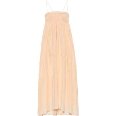 クロエ Chloe レディース ワンピース マキシ丈 ワンピース・ドレス Silk-ponge maxi dress Tenderpeach