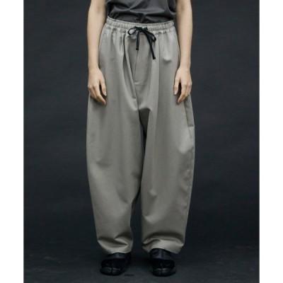 パンツ 【my beautiful landlet】 stretch double cloth wide easy pants