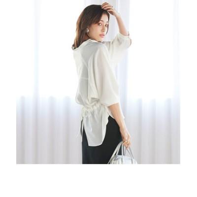 後ろがかわいい とろみスキッパーシャツ ≪手洗い可能≫