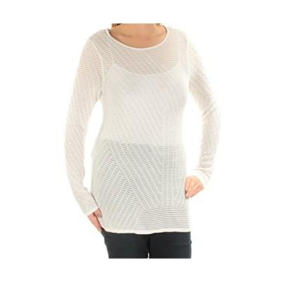 Bar III Womens Cross-Back Tunic Pullover Sweater, White, Medium並行輸入品 送料無料