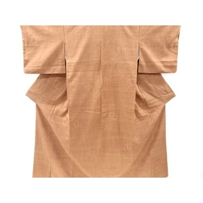 リサイクル 亀甲模様織手織り真綿紬着物