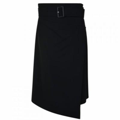 ヒューゴ ボス Boss レディース スカート Vinaya Asymmetric Wrap Skirt BLACK