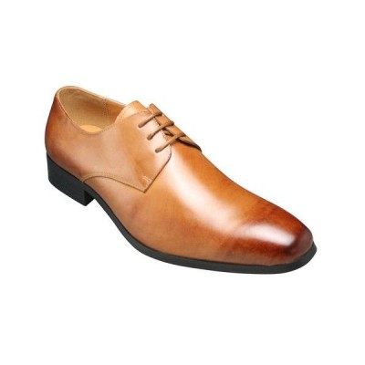 【SARABANDE(サラバンド)】ヨーロピアントラディショナルの牛革ビジネスシューズ(プレーントゥ)・SB7760(ライトブラウン)/メンズ 靴